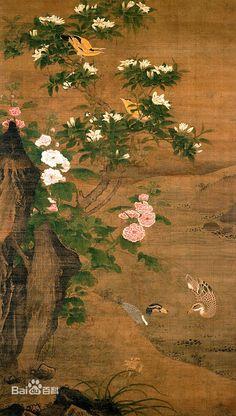 Lu Ji(吕纪) 。 吕纪(1477~?)中国明代画家。字廷振,号乐愚。鄞(今浙江宁波)人。以画被召入宫,值仁智殿,授锦衣卫指挥使。擅花鸟、人物、山水,以花鸟著称于世。
