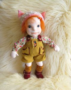 Waldorf inspired doll Cloth dollSoft sculpture doll Handmade