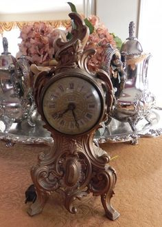 Hey, I found this really awesome Etsy listing at https://www.etsy.com/listing/180310956/beautiful-louis-xv-mantel-clock