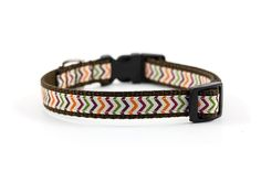 Fall Dog Collar  5/8 inch width  Adjustable  by MonicaAnnPets