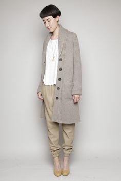 TOTOKAELO - Looks - Cement Leather Sweat Pant