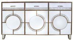 Gatsby Antique Mirrored Sideboard - 3 Drawer 3 Door