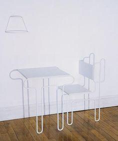 'Shadow Trio' by Tanya Aguiniga #Table #Chairs #Tanya_Aguiniga