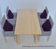 1/6 scale / playscale - miniature dining table  - fashion doll furniture  for Barbie, Blythe, Momoko, Fashion Royalty, diorama.