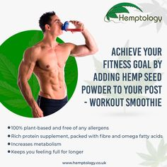 To help you add the right amount of ease and health into your fitness journey is our Hemp Seed Powder. #help #helpyourself #health #healthy #healthylifestyle #healthyfood #healthtips #healthyeating #healthydiet #fit #fitness #fitnessmotivation #fitnessjourney #fitnessgoals #fitnessaddict #fitnessfreak #fitnesstransformation #hemp #hempoil #hemplife #hempseeds #hempflower #hempproducts #hempclothing #hempcommunity #hempheals #farmtofuture #hempuk #hemptology You Fitness, Fitness Goals, Fitness Motivation, Hemp Protein Powder, Post Workout Smoothie, Organic Hemp Seeds, Protein Supplements, Fitness Transformation, Metabolism