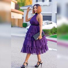 Layered Midi Tulle Dress