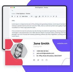 Designer E-mail Signature Template PSD Desktop Publishing, Email Signatures, Email Templates, Lorem Ipsum, Design