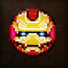 sandylandya@outlook.es Iron Man perler beads by hardysoffian