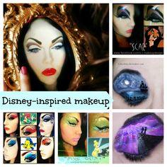 Stunning Disney Inspired Makeup Looks -- I'm in LOVE with the Scar makeup! Movie Makeup, Fx Makeup, Highlighter Makeup, Beauty Makeup, Scar Makeup, Crazy Makeup, Pretty Makeup, Makeup Looks, Disney Inspired Makeup