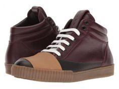 MARNI Banded High Top Sneaker (Black/Bordeaux) Men's Shoes