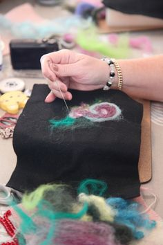 Learning to needle felt, the first of four techniques