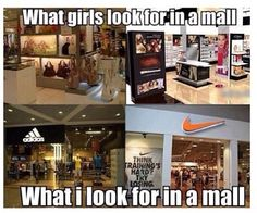 That's like 100% true! And of course when I go into other stores I beeline for the athletic clothes section!