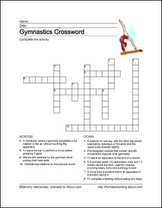 Gymnastics Wordsearch, Vocabulary, Crossword, and More: Gymnastics Crossword Puzzle Gymnastics Crafts, Gymnastics Games, Gymnastics Tricks, Gymnastics Birthday, Gymnastics Coaching, Gymnastics Training, Grammar Lessons, Writing Lessons, Sports Crossword