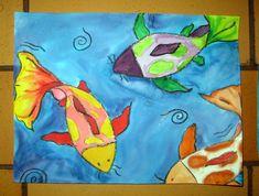 Mrs. Art Teacher!: Asian art unit : watercolor koi