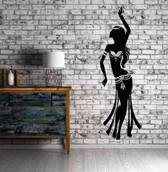 Belly Dance Wall Stickers Relax Arabic Sexy Beautiful Girl Vinyl Decal (ig1553)
