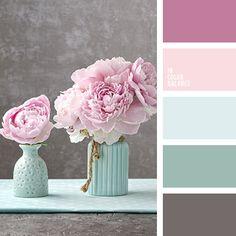 бирюзовый и салатовый, бирюзовый и сине-голубой, бледно-малиновый цвет, дизайнерские палитры, зеленовато-ментоловый, зеленоватый и розовый, мятный и розовый, мятный цвет и яркий малиновый, нежный малиновый, нежный серый, оттенки розового,