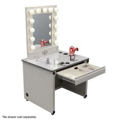 Broadway Lighted Vanity Mirror Gloss dp BTCF