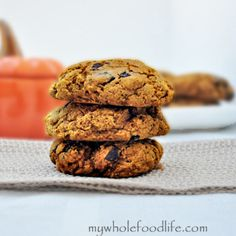 Pumpkin Chocolate Chunk Cookies and a Giveaway!   My Whole Food Life