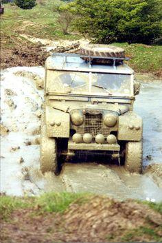 Series 1 Landrover mud plugging