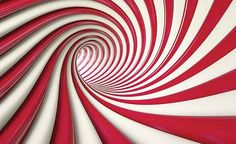 Abstract Swirl Fototapet, x 146 cm) Optical Illusions, Wall Murals, Red And White, Abstract, Artwork, Women's Fashion, Painting, Design, Illusions