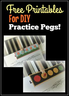Kids aren't putting in enough practice time on a single song? Try these FREE printable Fun with Practice Pegs from Teach Piano Today