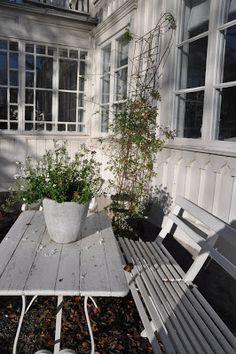 The White Porch: House Outdoor Spaces, Outdoor Living, White Porch, Green Garden, My Dream Home, Windows, New England, Home And Garden, House Styles
