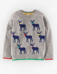 Reindeer Festive Sweater 31946 Sweaters at Boden
