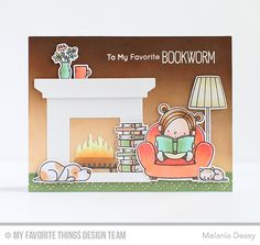 Our Story Stamp Set and Die-namics, Fireplace Die-namics - Melania Deasy #mftstamps