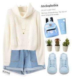 """""""#Romwe"""" by credentovideos ❤ liked on Polyvore featuring adidas and CLEAN"""