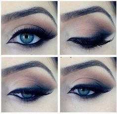 Eyes / eyeliner / eyeshadow / black / bronze / eyebrows / make up / smokey eye Beauty Make-up, Beauty Hacks, Hair Beauty, Subtle Smokey Eye, Smoky Eye, Daytime Smokey Eye, Sexy Smokey Eye, Makeup Tricks, Makeup Tutorials