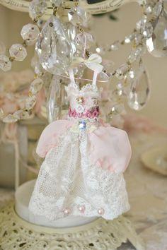 Handmade Miniature Lace Fairy Dress by Jennelise by Jenneliserose