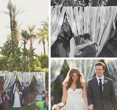 mint love social club: {our wedding} ceremony backdrop