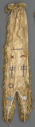 Bonhams : A Sioux beaded tobacco bag