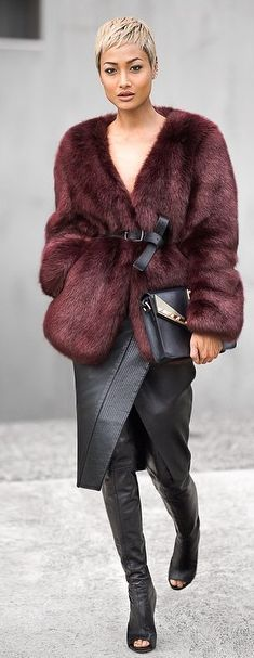 Burgundy And Black Inspiration Outfit by Micah Gianneli