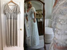 Beaded Boho Wedding Dress // Modern Flapper Bohemian Gown by TheClovenHeart on Etsy