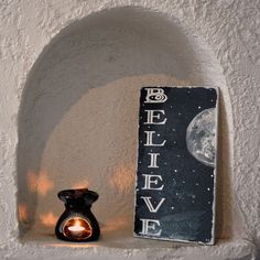 """Items similar to Acrylic Painting Wood Sign– """"Believe""""- Positive Wood Sign – Hand painted-Christmas Decor - Christmas Inspirational Gift on Etsy Wooden Signs With Sayings, Wood Signs, Inspirational Gifts, Motivation Inspiration, Perfume Bottles, Christmas Decorations, Hand Painted, Unique Jewelry, Handmade Gifts"""
