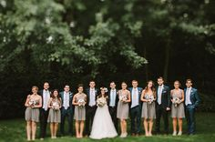 2014 Wedding Trends   Gray Wedding   Gray Bridesmaid Dresses