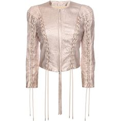 Sew lace-up couture with Threadhead TV. ~ALEXANDER MCQUEEN, Jacket, Washed Metallic Leather Jacket