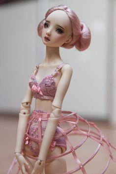 ursi sarna fashion for Enchanted Doll RED Pink Dress Hoop