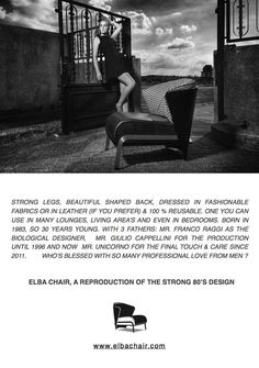 ELBA CHAIR WITH STRONG LEGS