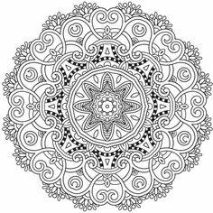 Aufwändiges Mandala Design