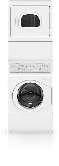 This looks perfect for our small laundry/bathroom! The trick might be getting it in the door though, since they don't come apart... Stacked Washer/Dryers - Speed Queen - Home Laundry Equipment