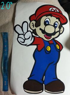 COLORED layered Super Mario Vinyl Decal 12.520 tall by AryeaCrafts, $23.50