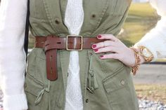 Belted Military Vest