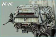 Imperial AT-AT from Star Wars Miniatures game Repainted and weathered by Andy Mo - Star Wars Models - Ideas of Star Wars Models - Imperial AT-AT from Star Wars Miniatures game Repainted and weathered by Andy Moore Star Wars Ships, Star Wars Art, Star Trek, Nave Star Wars, At At Walker, Star Wars Personajes, Star Wars Crafts, Star Wars Design, Star Wars Vehicles
