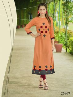 Elegance The New Festive Wear Kurti Collection With Best Quality Fabric New Kurti Designs, Simple Kurta Designs, Stylish Dress Designs, Stylish Dresses, Blouse Designs, Kurti Sleeves Design, Sleeves Designs For Dresses, Kurta Neck Design, Girls Kurti