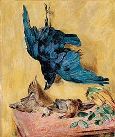 Still life with Raven and Ducks, 1922 by Hans Purrmann, (German, 1880-1966)