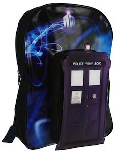 Doctor Who Tardis Backpack. I want it. Now.