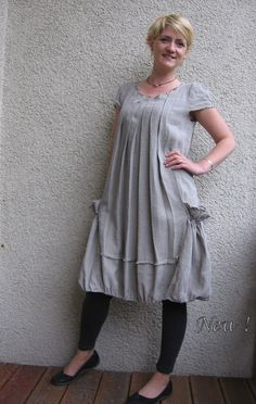 Eco friendly natural linen dress  tunic by rubuartele on Etsy, $64.00