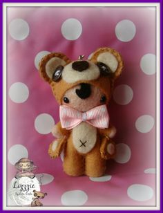 A small teddy bear doll...